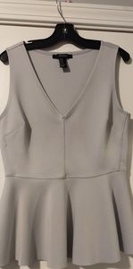 Light Grey Peplum Top